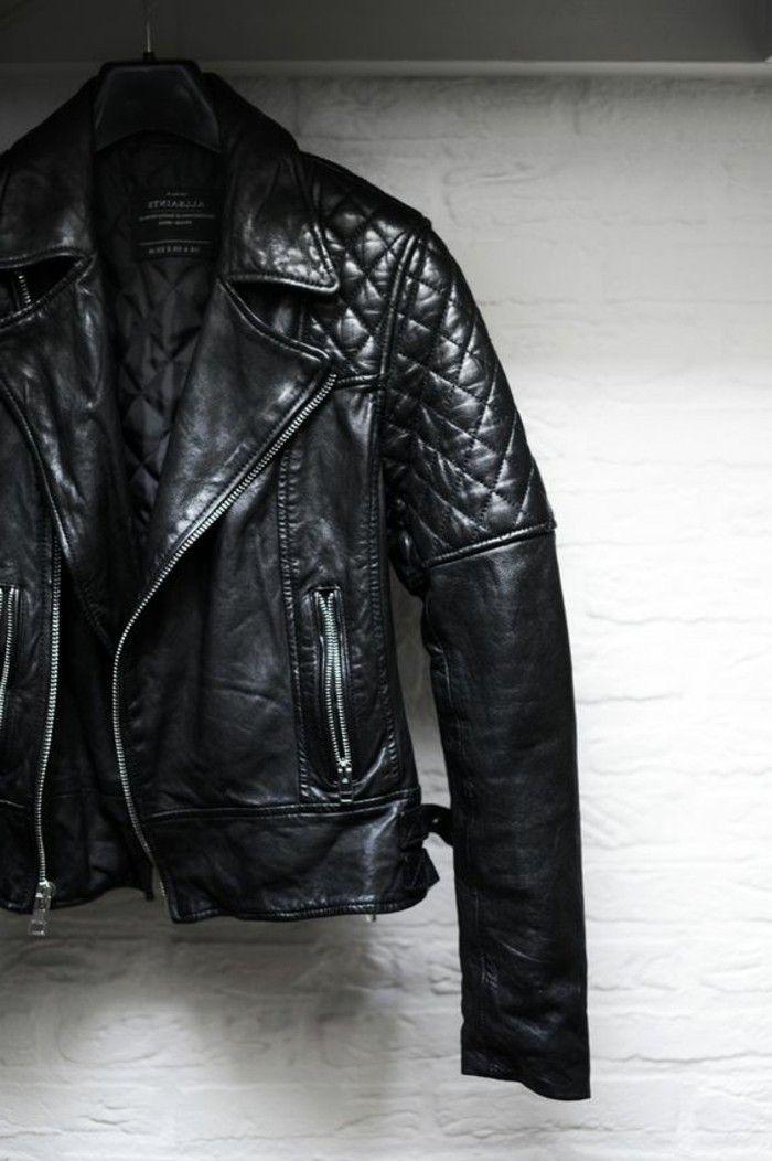 Blouson cuir biker homme pas cher