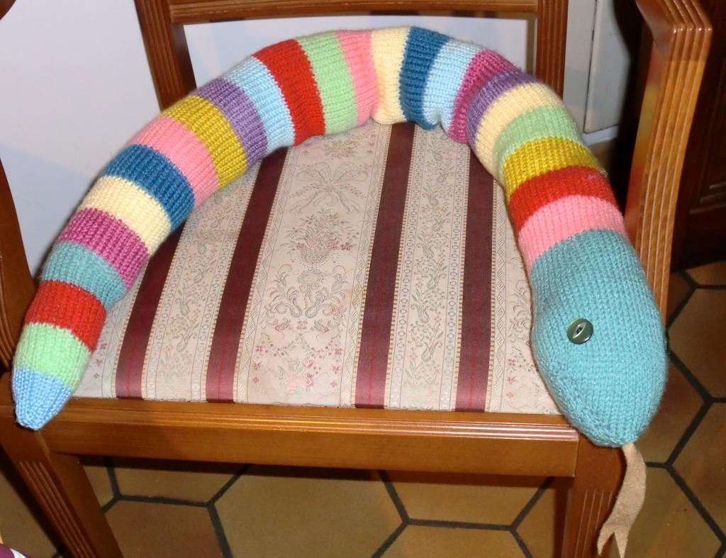 A Knitted Draught Excluder Snake For Mum Jan In 2018 Pinterest