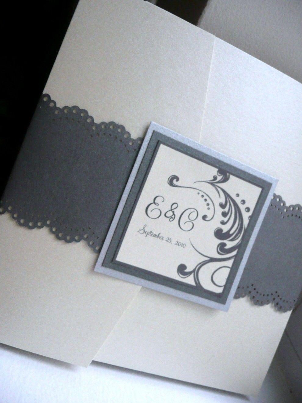 Great Handmade Wedding invitations   Paper punch Ideas   Pinterest ...