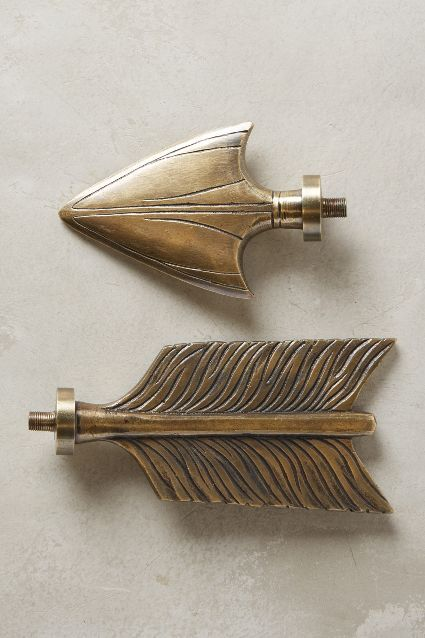bow & arrow finials - anthropologie, jude's room | home sweet
