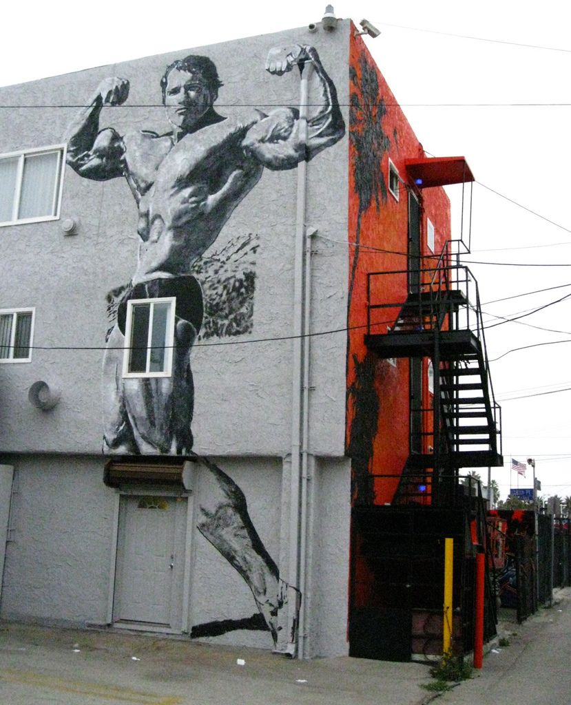 Arnold the Terminator, Venice Beach, Los Angeles, California