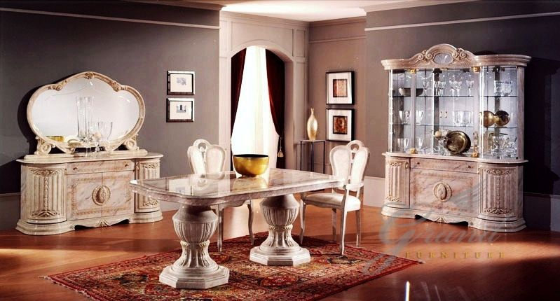 Betty Italian Designer Dining Table With 6 Chairs Set Click To