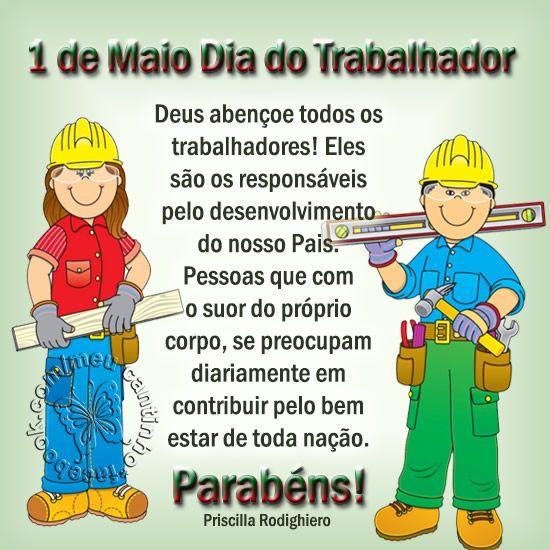 1 De Maio Mensagem Dia Do Trabalhador Mensagem Dia Do