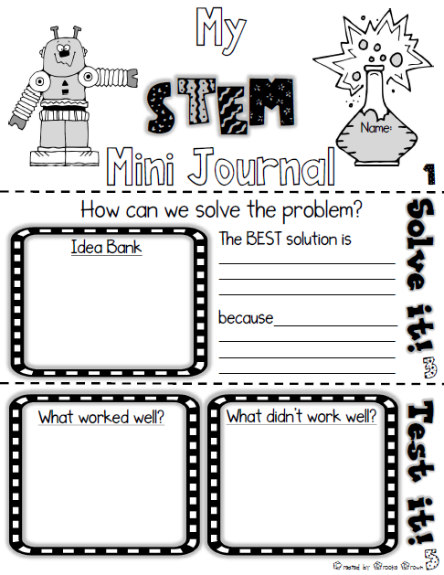 free stem mini journal for elementary students use with any stem challenge teaching the. Black Bedroom Furniture Sets. Home Design Ideas