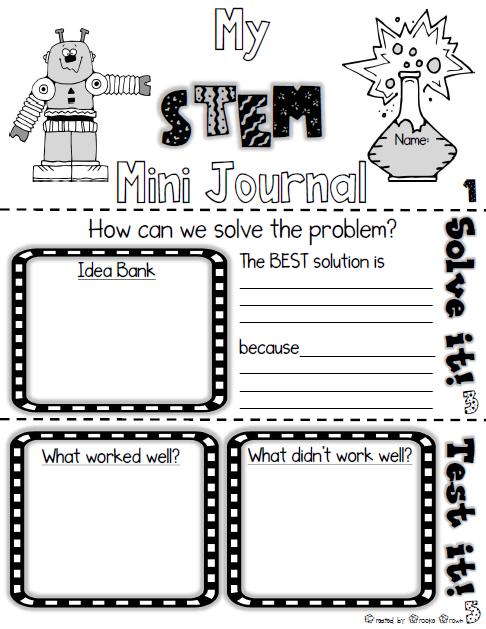 Free STEM Challenge Mini Journal | STEM | Kindergarten stem, Stem