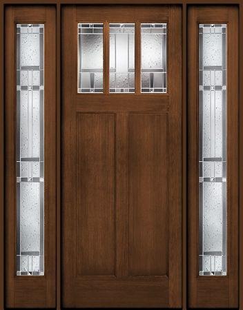 Therma Tru Classic Craft American Door And Two Sidelites Homeward Craftsman Front Doors Fiberglass Exterior Doors Craftsman Door