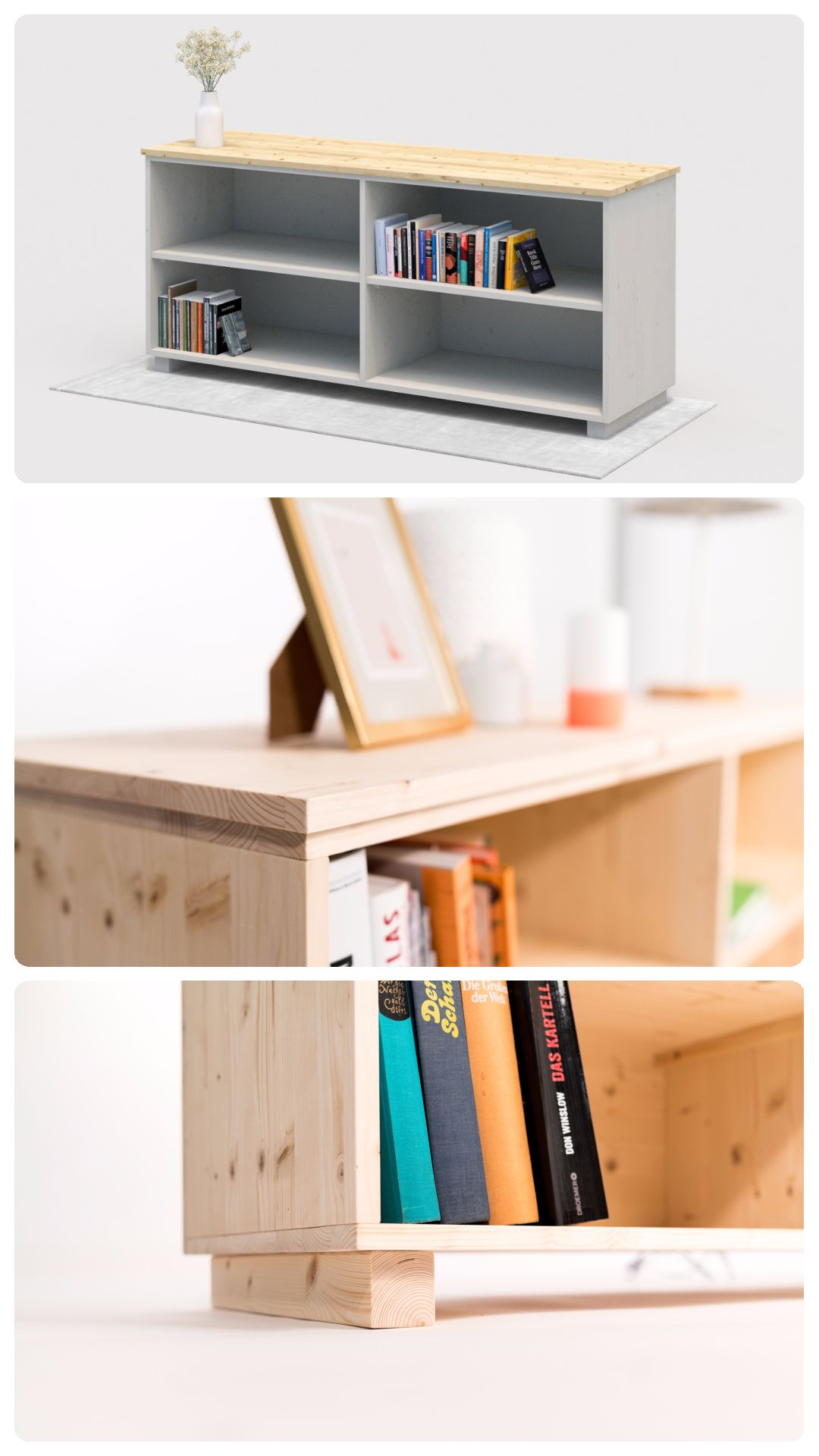 Ob Als Bücherregal, TV Schrank Oder Dekoratives Möbelstück Für Bilder Und  Lampen   Dieses