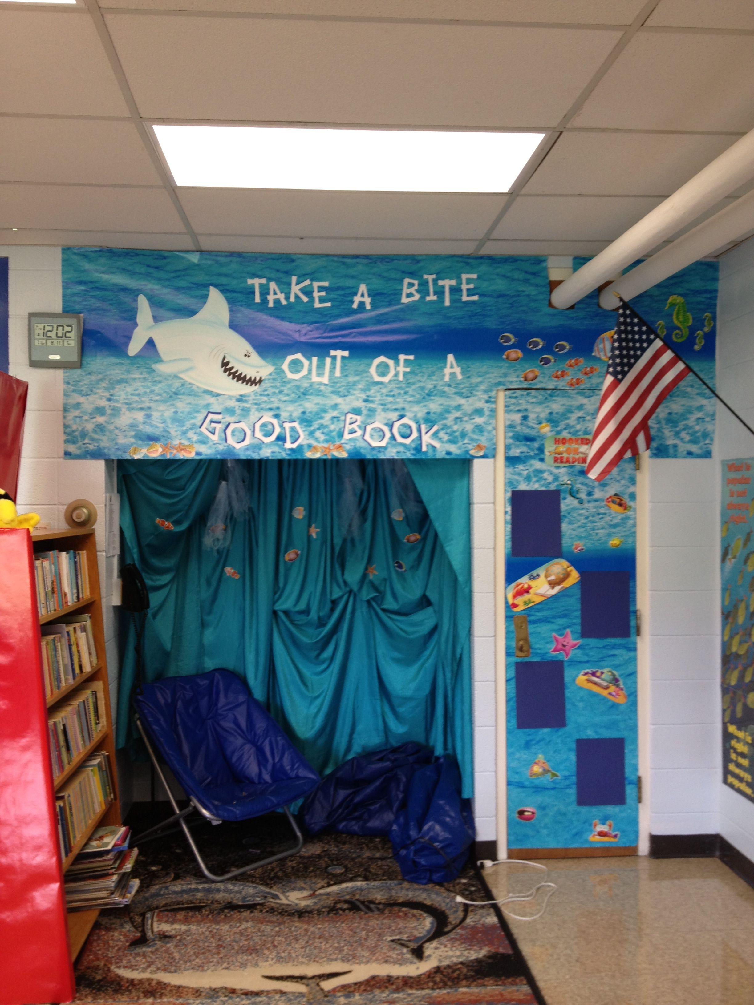 Ocean Themed Library Reading Area With Images Classroom Themes