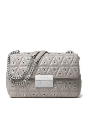 29ae3cd9a919 Michael Michael Kors Sloan Large Chain Shoulder - Pearl Grey - One Size