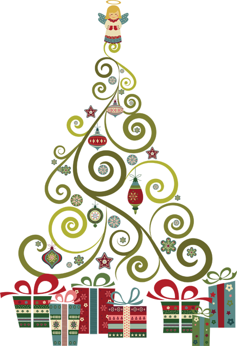 Christmas Pictures Clip Art.Elegant Christmas Love Clipart Christmas Tree Clipart