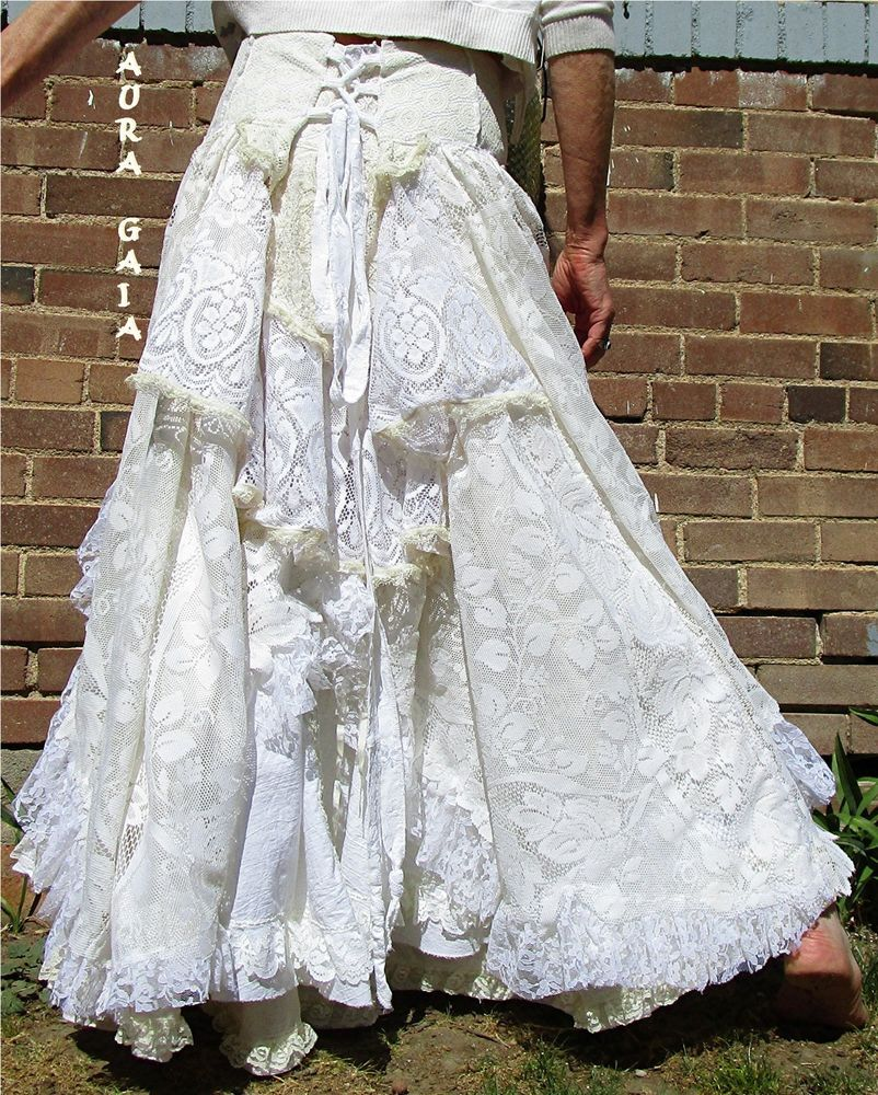 Auragaia Asterope Bridal Wedding Handfast Skirt Poorgirl Upcycled