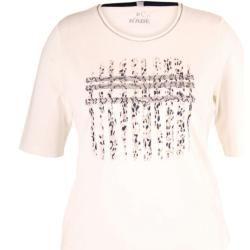 Rabe - weißes T-Shirt mit Glitzer-App... Rabe
