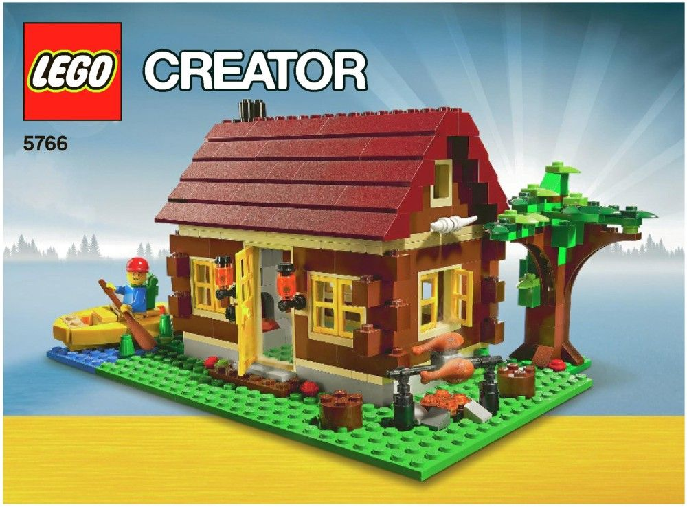 Lego Log Cabin Instructions 5766 Creator Lego Creator Lego Creator Sets Log Cabin