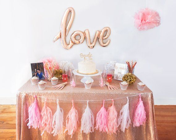 Bridal Shower Blush Pink And Gold Love Brunch Decorations
