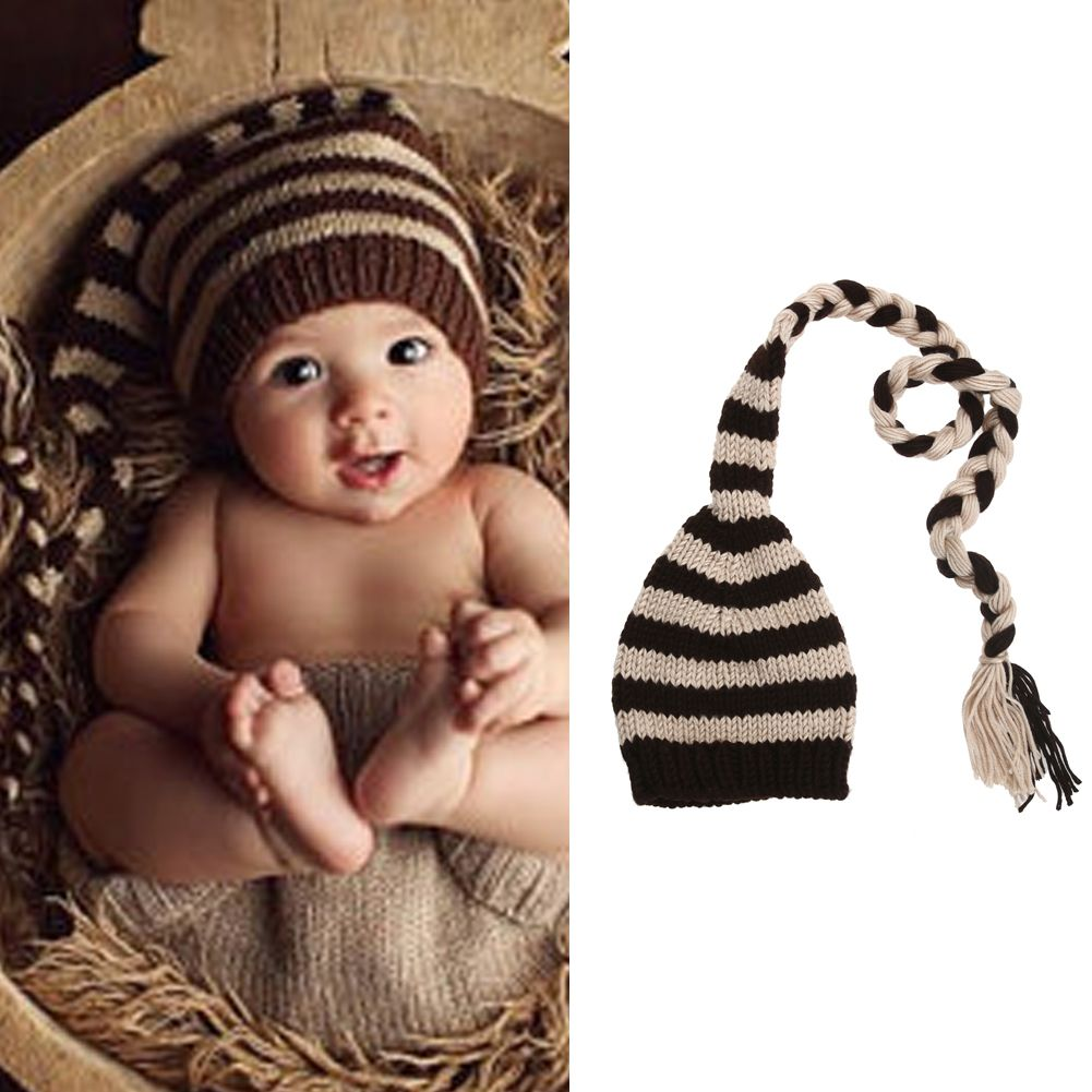 47d293f5865e6 Click to Buy    Baby Photo Props Newborn Infant Winter Cotton Wool Crochet