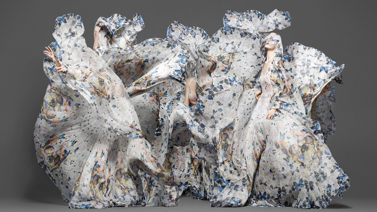 Alexander McQueen & Damien Hirst Scarf Collaboration / directed by photographer Sølve Sundsbø