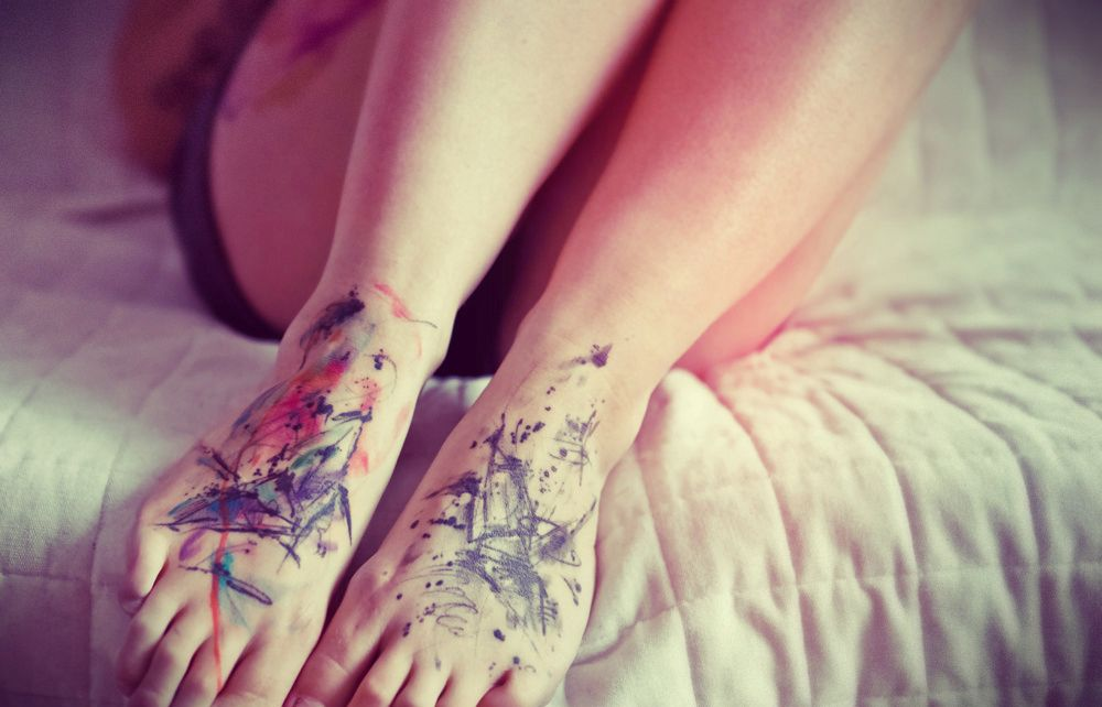 watercolor tattoos for men - Google Search