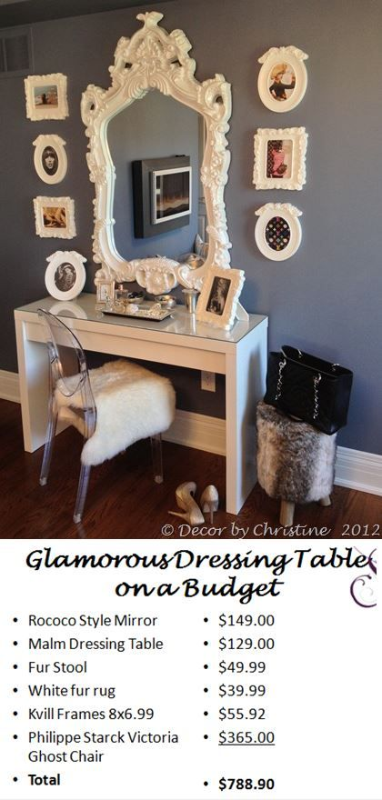 How to create a glamorous dressing area with ikea for Ikea creation dressing