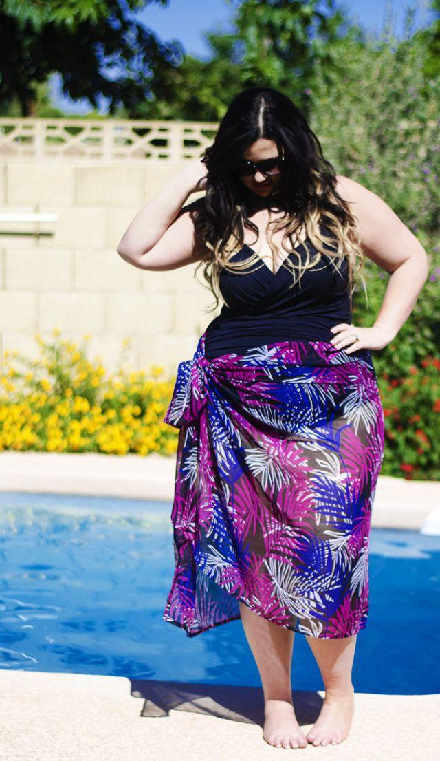 fe7bc7b10e9 plus size maxi kjole badedragt simpelthen være Zelie for hun simplybe elann  Zelie plus badedragt