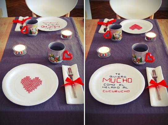 Mesa d a de los enamorados aniversario pinterest el - Sorpresas romanticas en casa ...