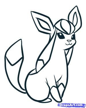 Glaceon Pokemon Coloring Pages Coloring Pages For Kids Pokemon