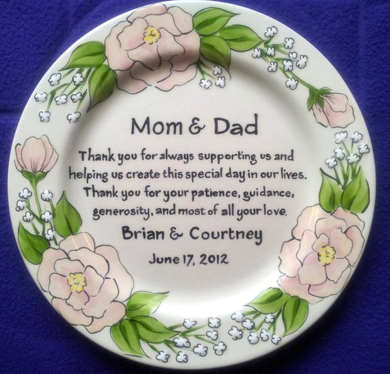 Gifts For Parents Wedding Day: Thank You Gift For Parents On Wedding Day Mom Dad From