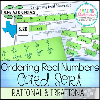 Ordering Real Numbers Activity Rational And By Amazing Mathematics Teachers Pay Teachers Real Numbers Activity Real Numbers Rational Numbers Activities Rational and irrational worksheets