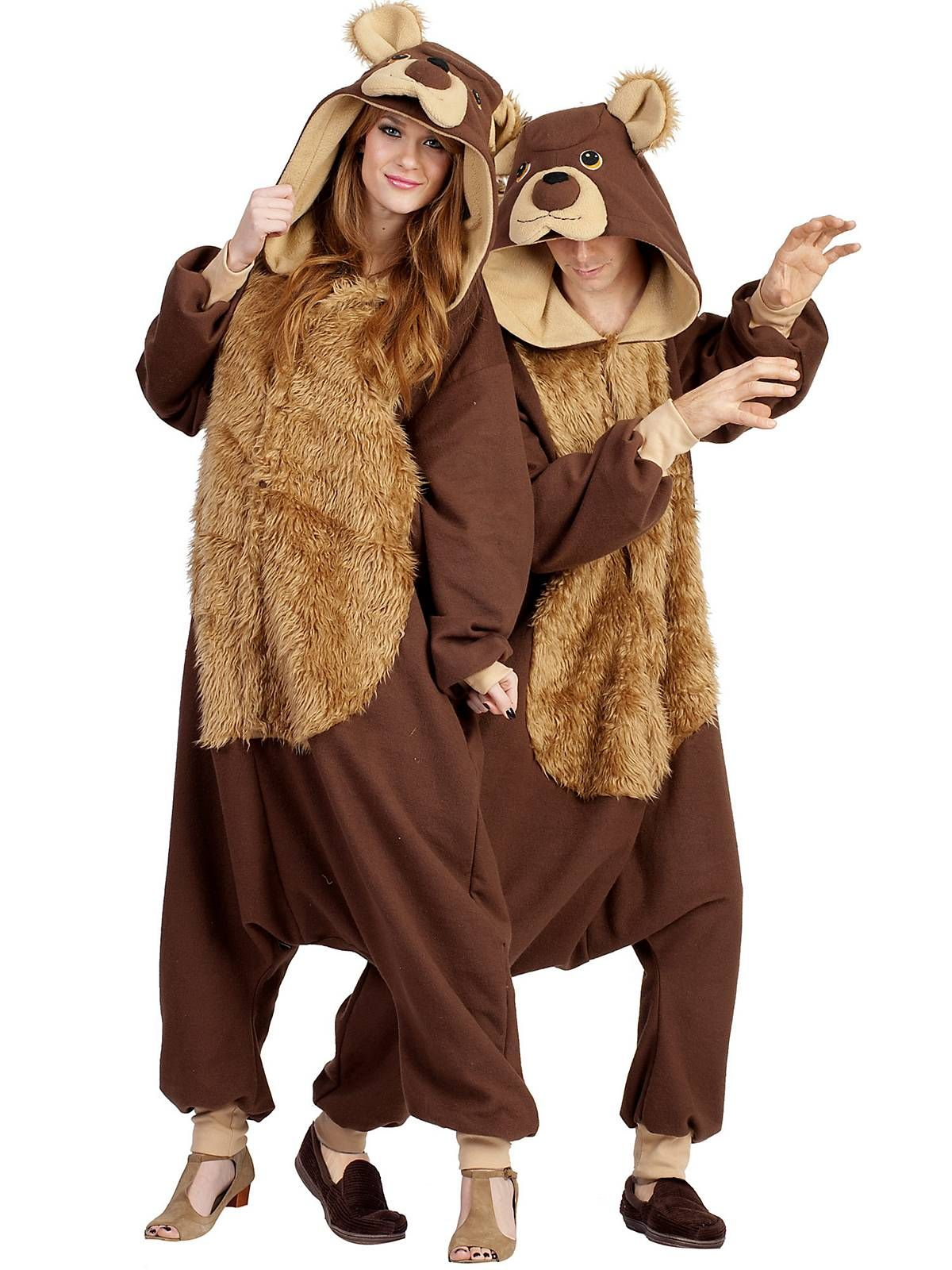 adult bailey bear hooded jumpsuit | wholesale animal costumes for