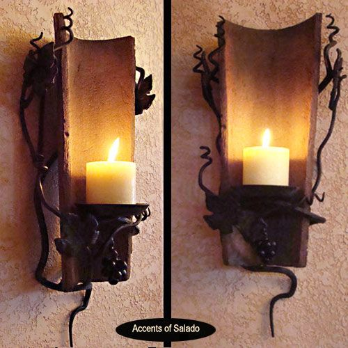 Casabella Candle Sconce - love this for the dining room or ... on Dining Room Sconce Idea id=38003