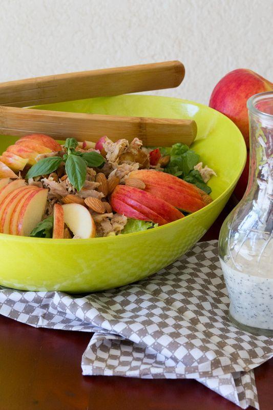 Apple & Chicken Salad with Honey Poppyseed Dressing