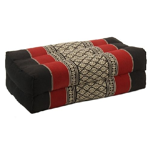Black White And Maroon Thai Pillow Seat Cushions