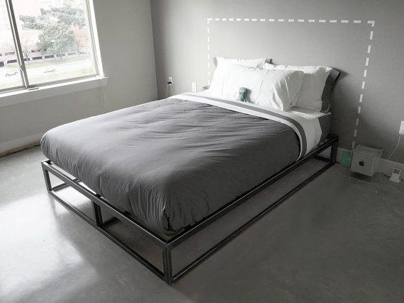 Modern Steel Bedframe - queen | Bastidores de acero, La reina y Acero