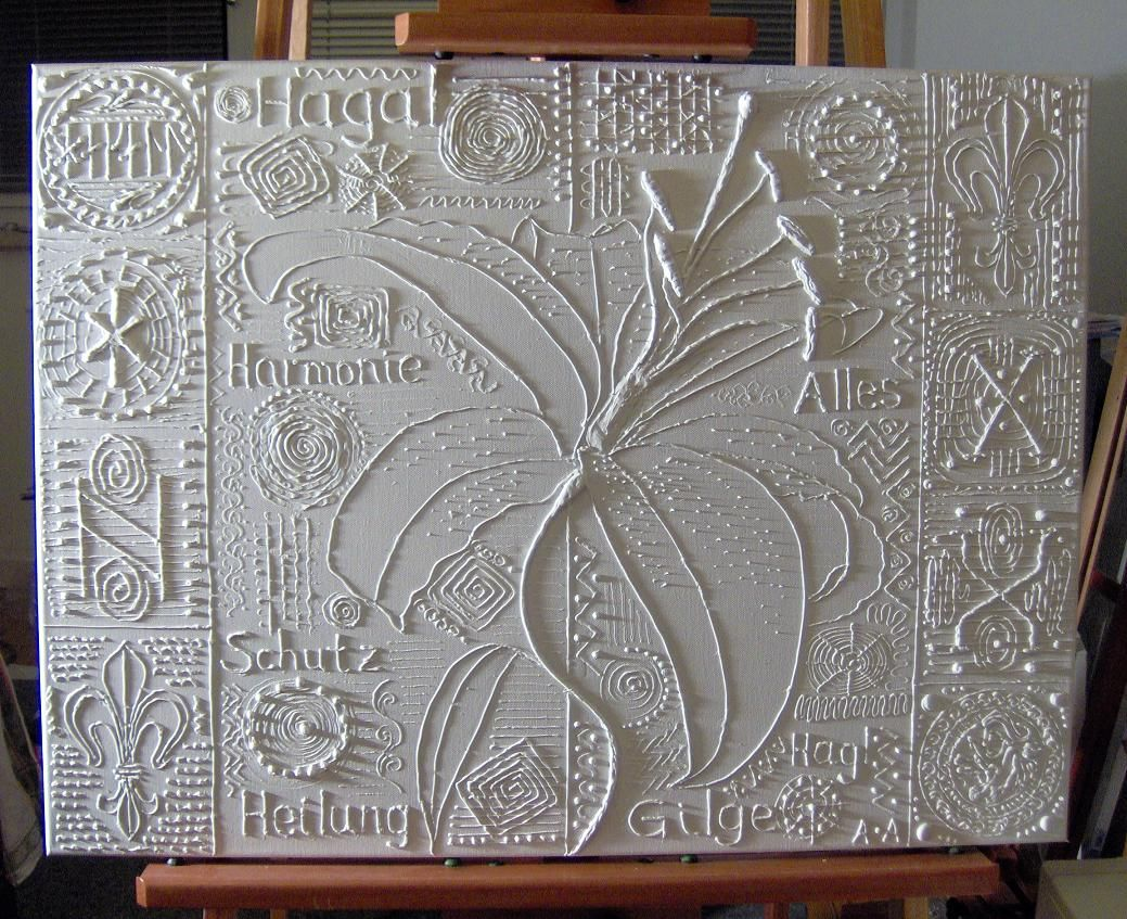 60x80in canvas with modeling paste before painting it for Texture painting ideas canvas