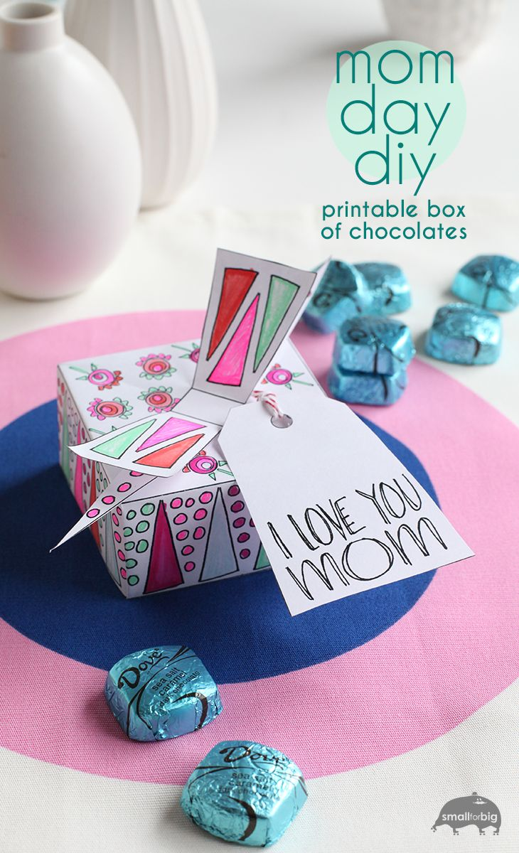 Mother 39 s day diy printable gift box box of dove Mothers day presents diy