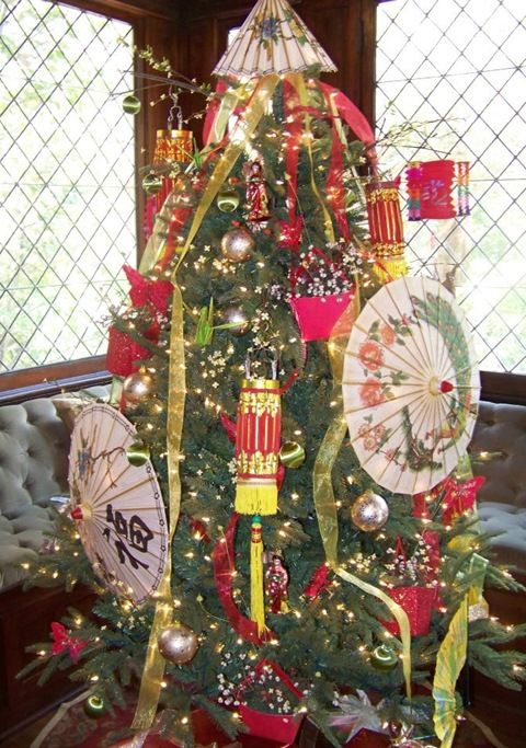 chinese oriental christmas tree
