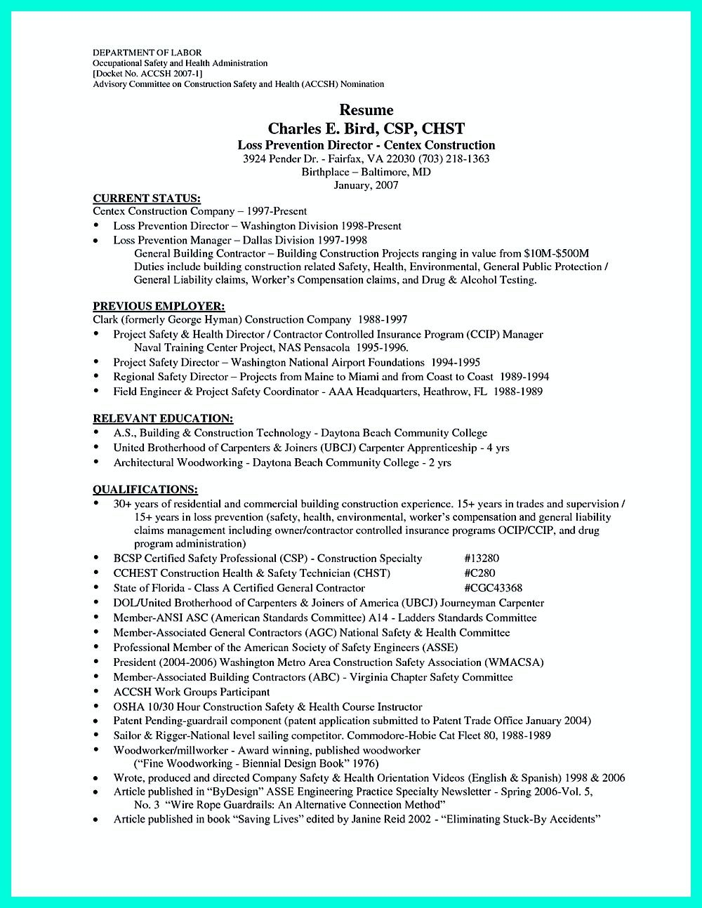 Construction Laborer Resume Is Designed For Those Who Will Work On