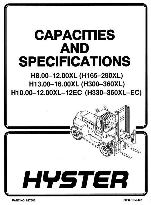Hyster Forklift Truck D007, E007, C019, D019 Series: H8-16