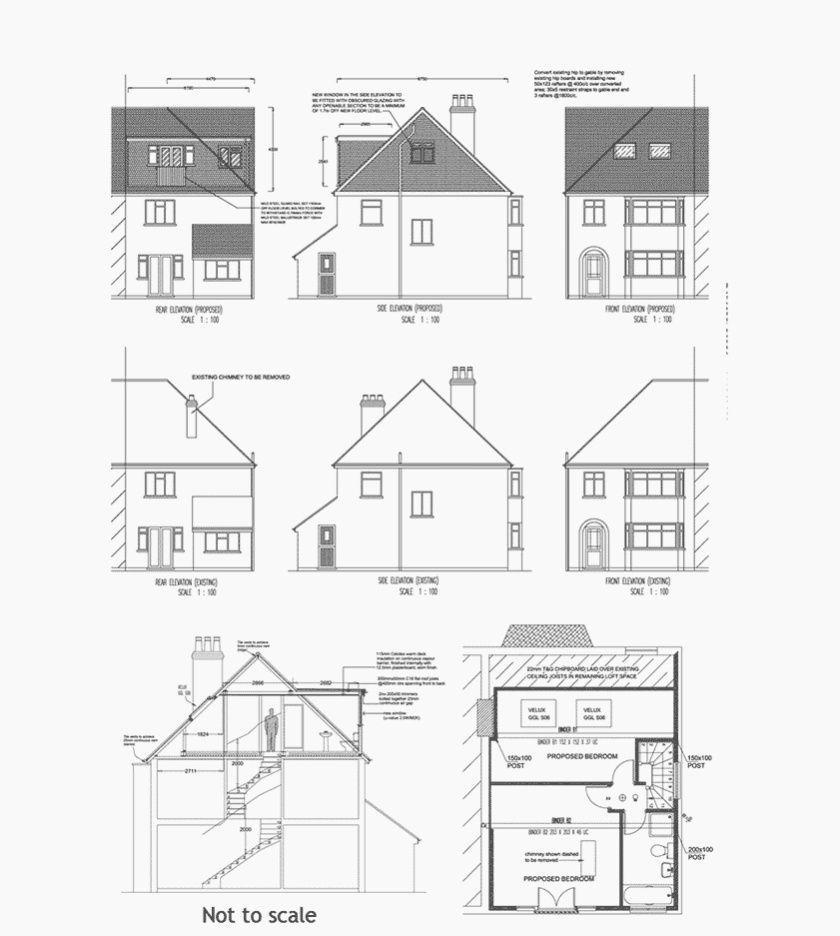 En Fin De Terrasse Ou Semi Detache Proprietes Ont Souvent Un Toit En Pente Sur Le Cote Et A L Aure In 2020 Loft Conversion Plans Loft Conversion Loft Conversion Design