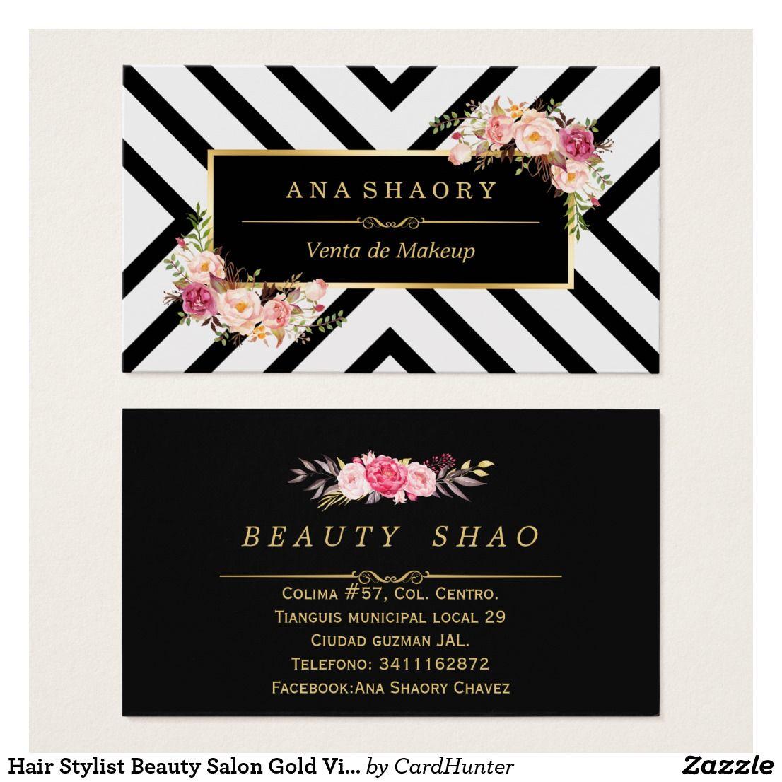 Create your own profile card salon gold