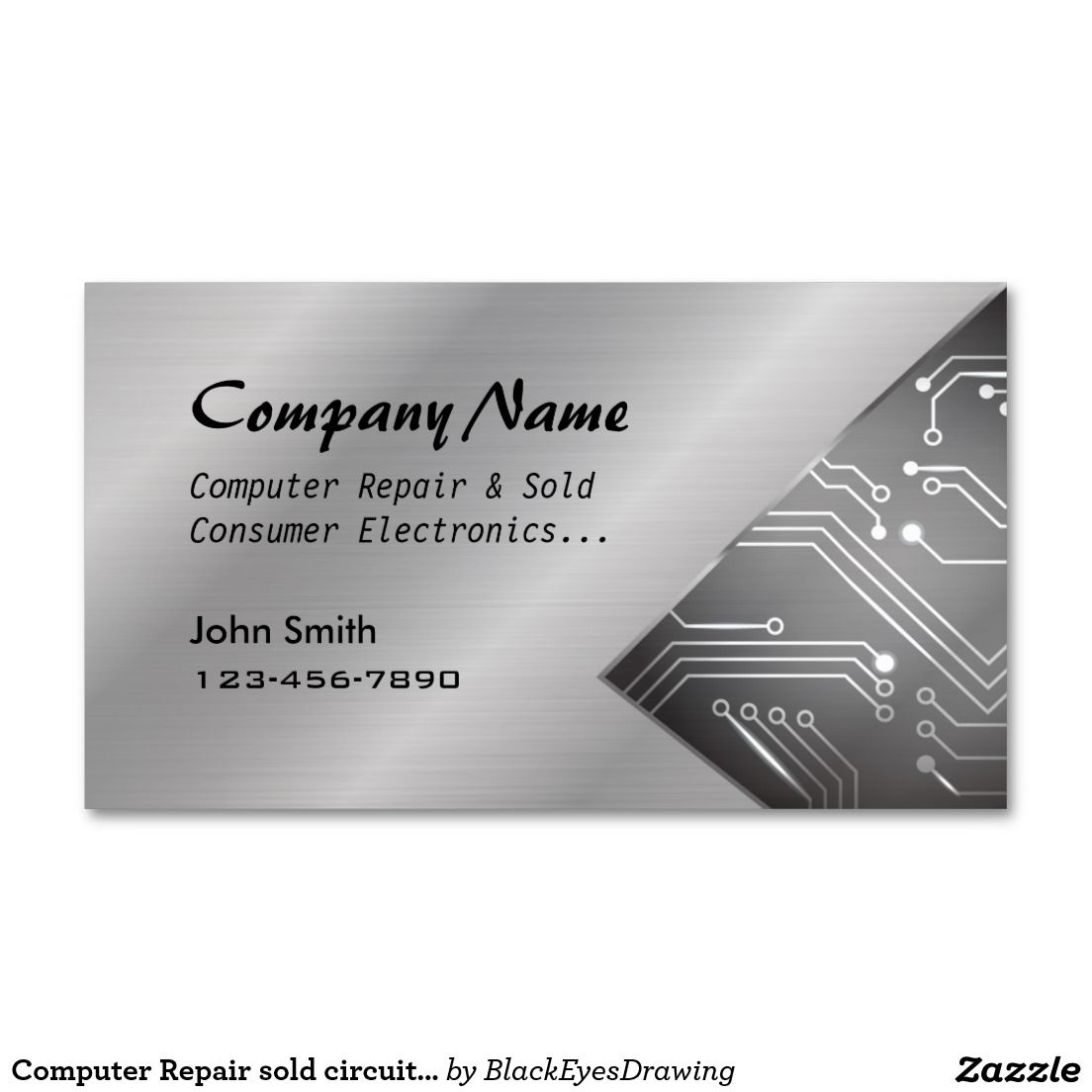 Computer Repair sold circuit board business cards | Computer repair ...