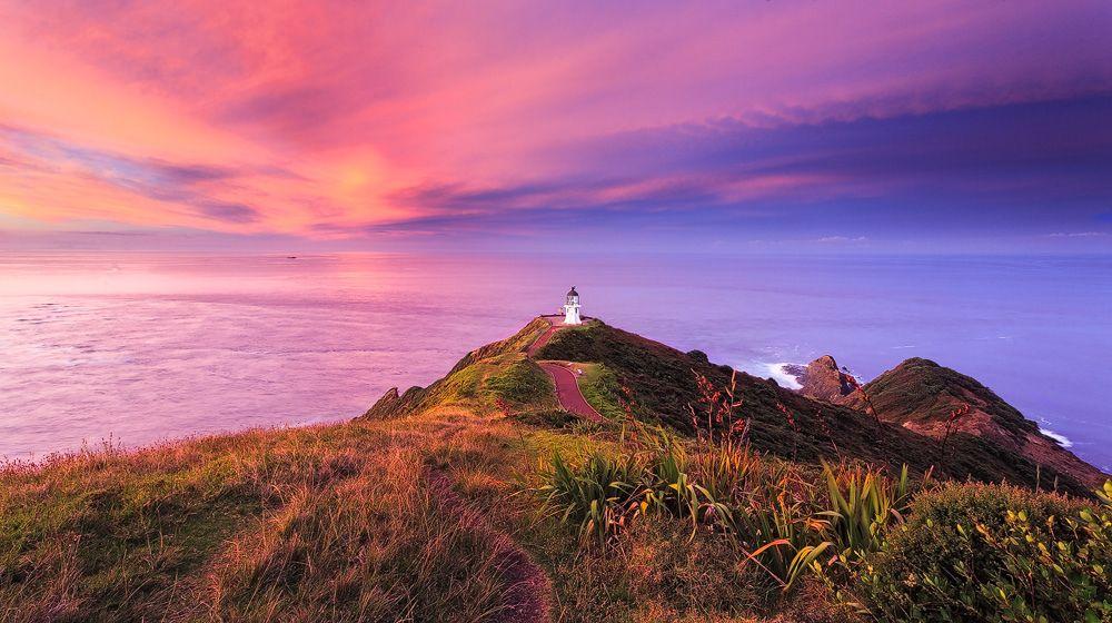 Video Neuseeland Pinterest: Oceans Confluence, Cape Reinga, New Zealand