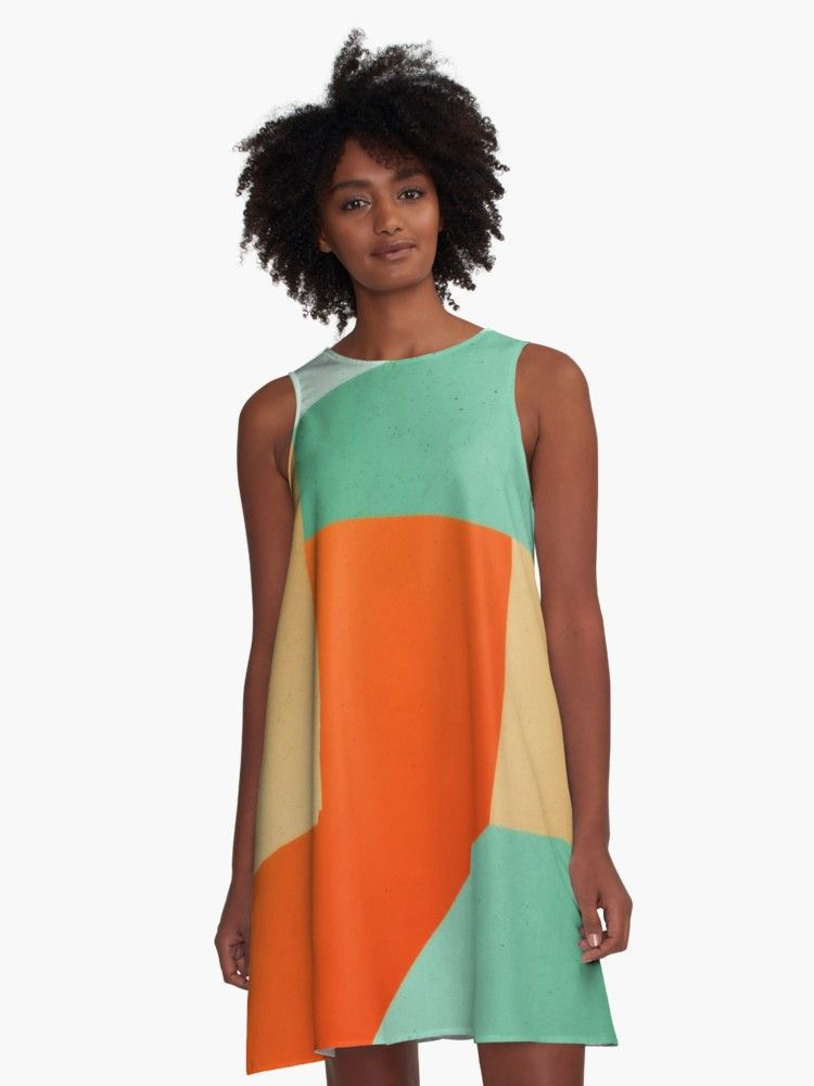 Green and orange makes what color is the dress