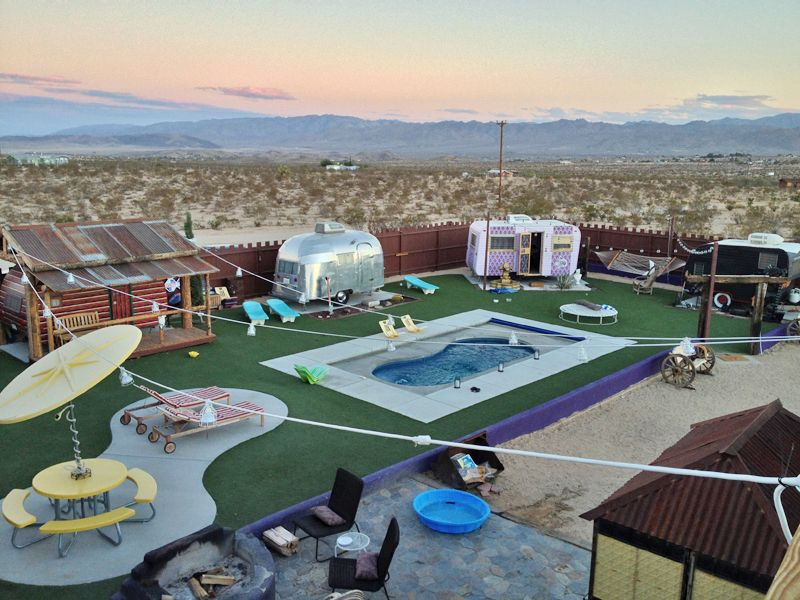 Please Take Me Here To Glamp Glamorous Camping At The Hicksville Trailer Park Hotel In Joshua Tree I Think May Design My Future Vacation Home