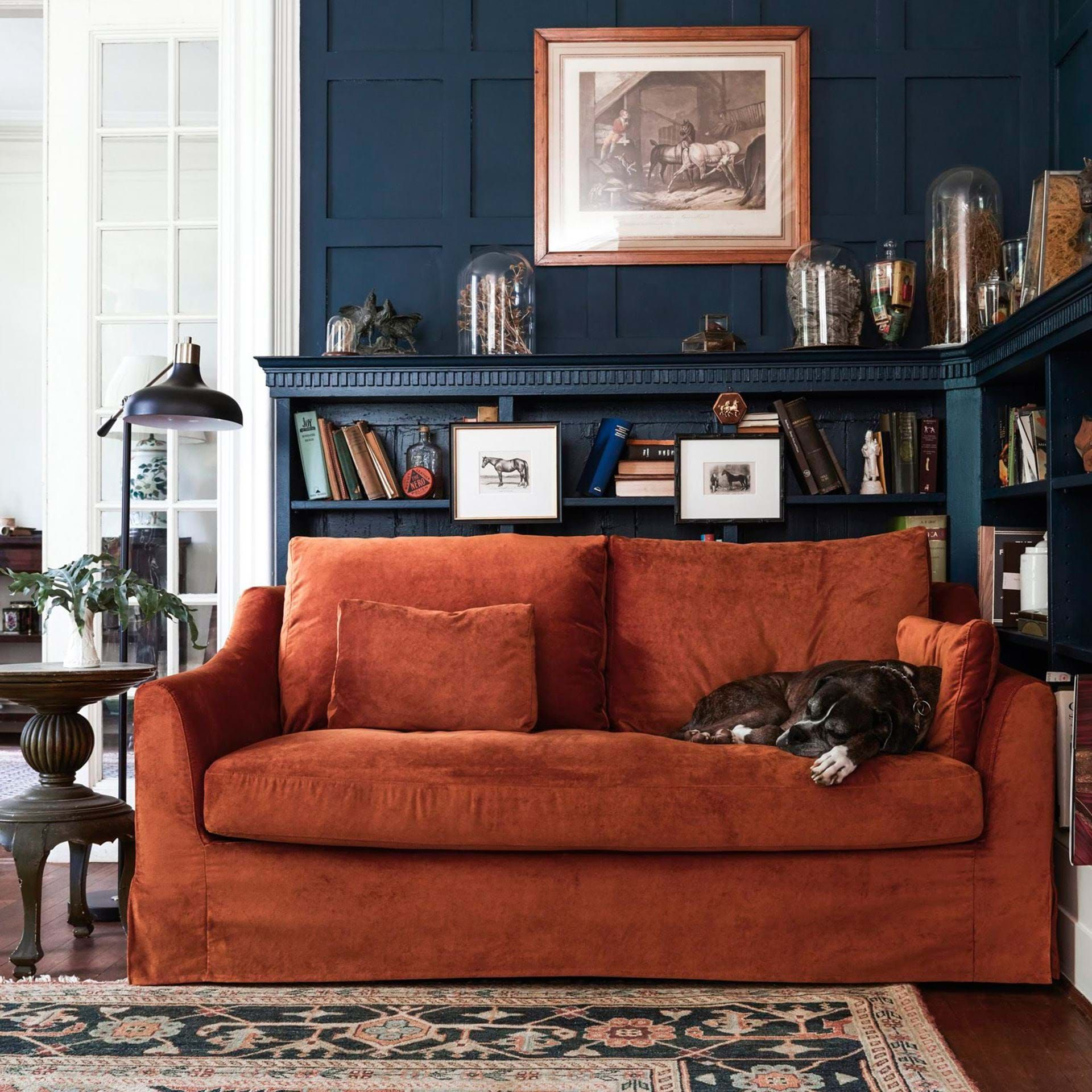 Divano Velluto Blu Ikea ikea färlöv 2er sofabezug – simply velvet zinc grey | bemz