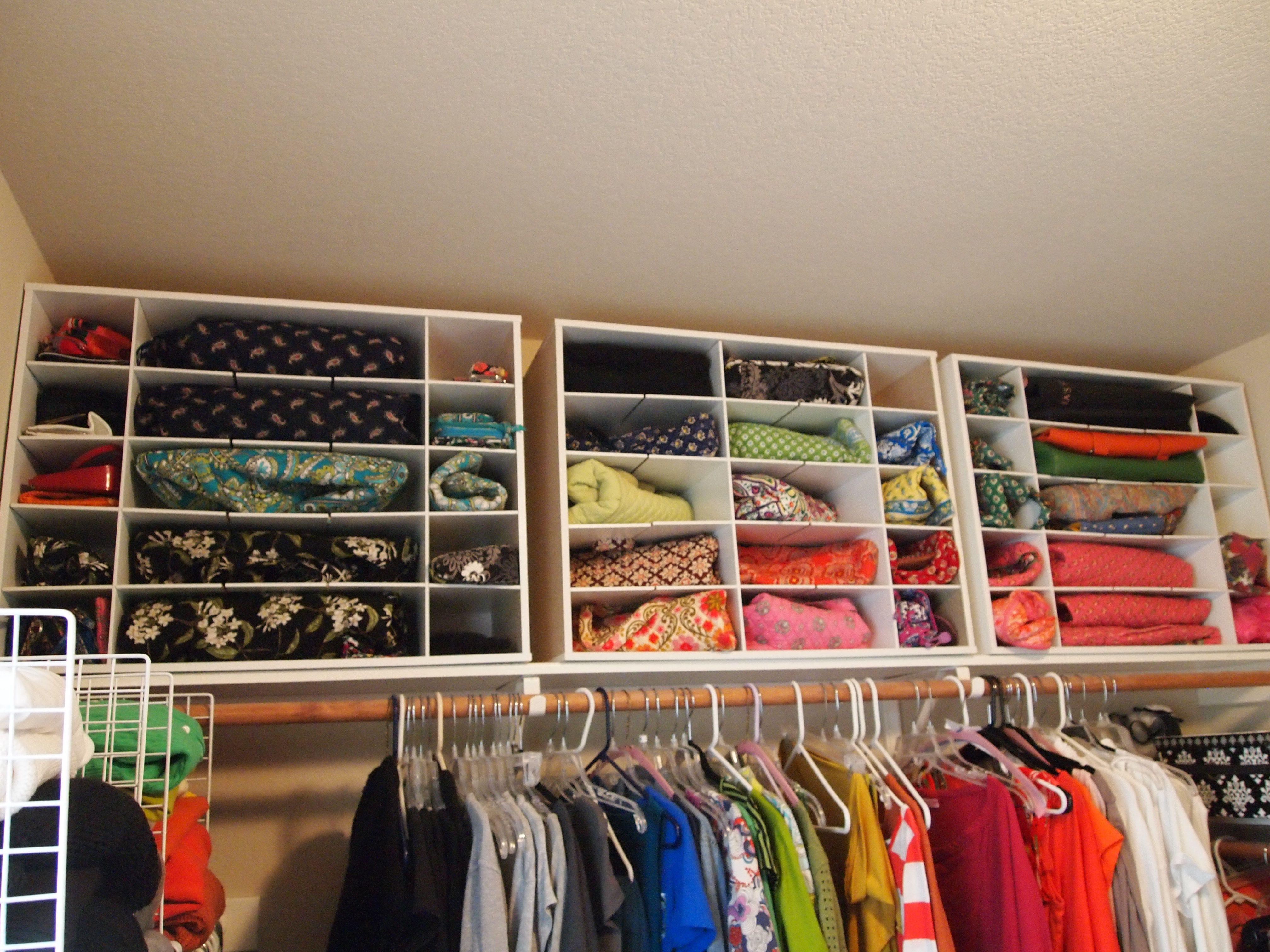 My Master Closet Vera Bradley Bag Organization Using Modular