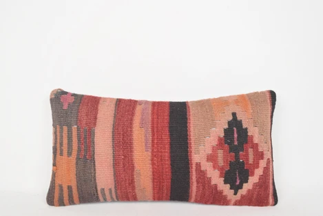 الكليم سجاد معنى الوسادة G00116 منتصف القرن مجتمع الطبيعية التبعي Kilim Rugs Kilim Fabric Hand Weaving