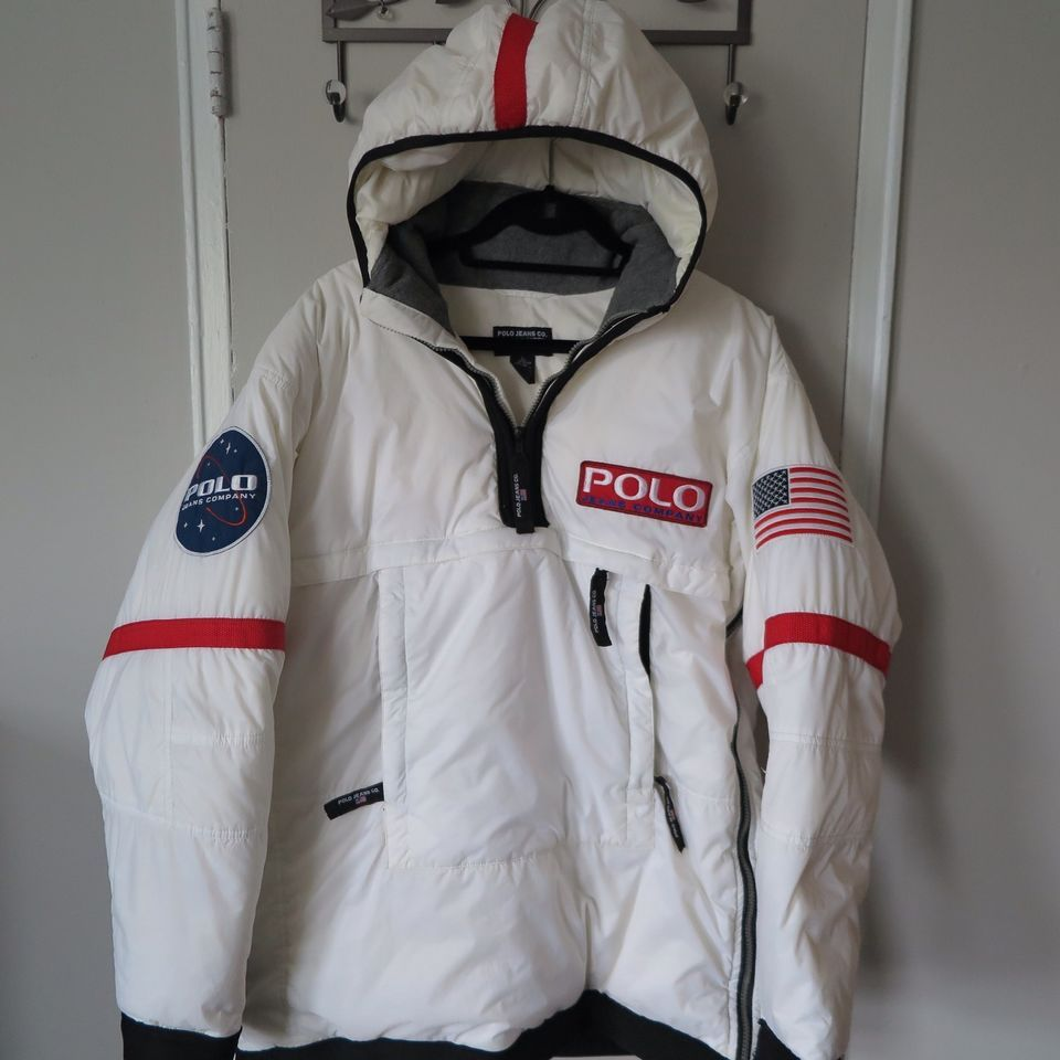 vintage ralph lauren polo astronaut jacket parka coat rare. Black Bedroom Furniture Sets. Home Design Ideas