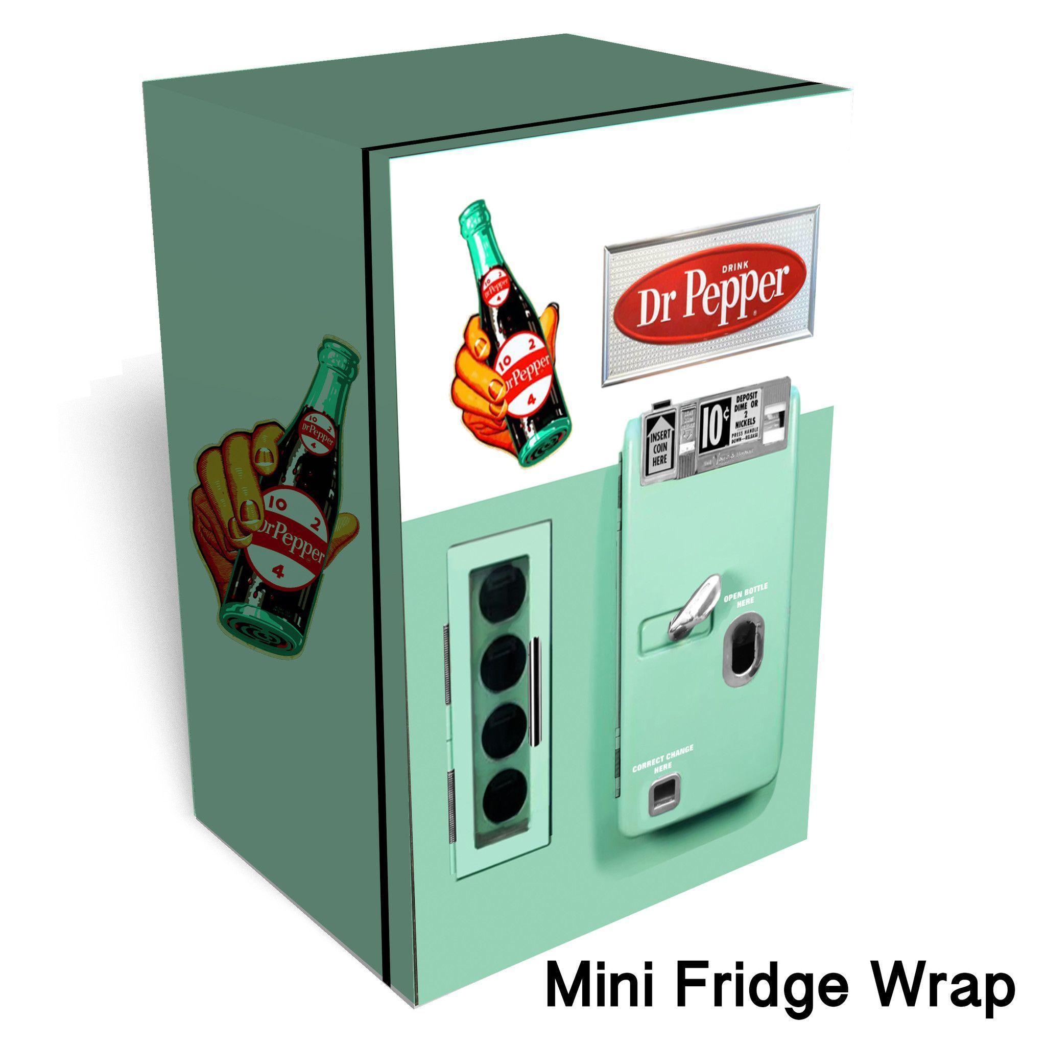 Schön Dr Pepper Vintage Mini Fridge Front Wrap Sticker