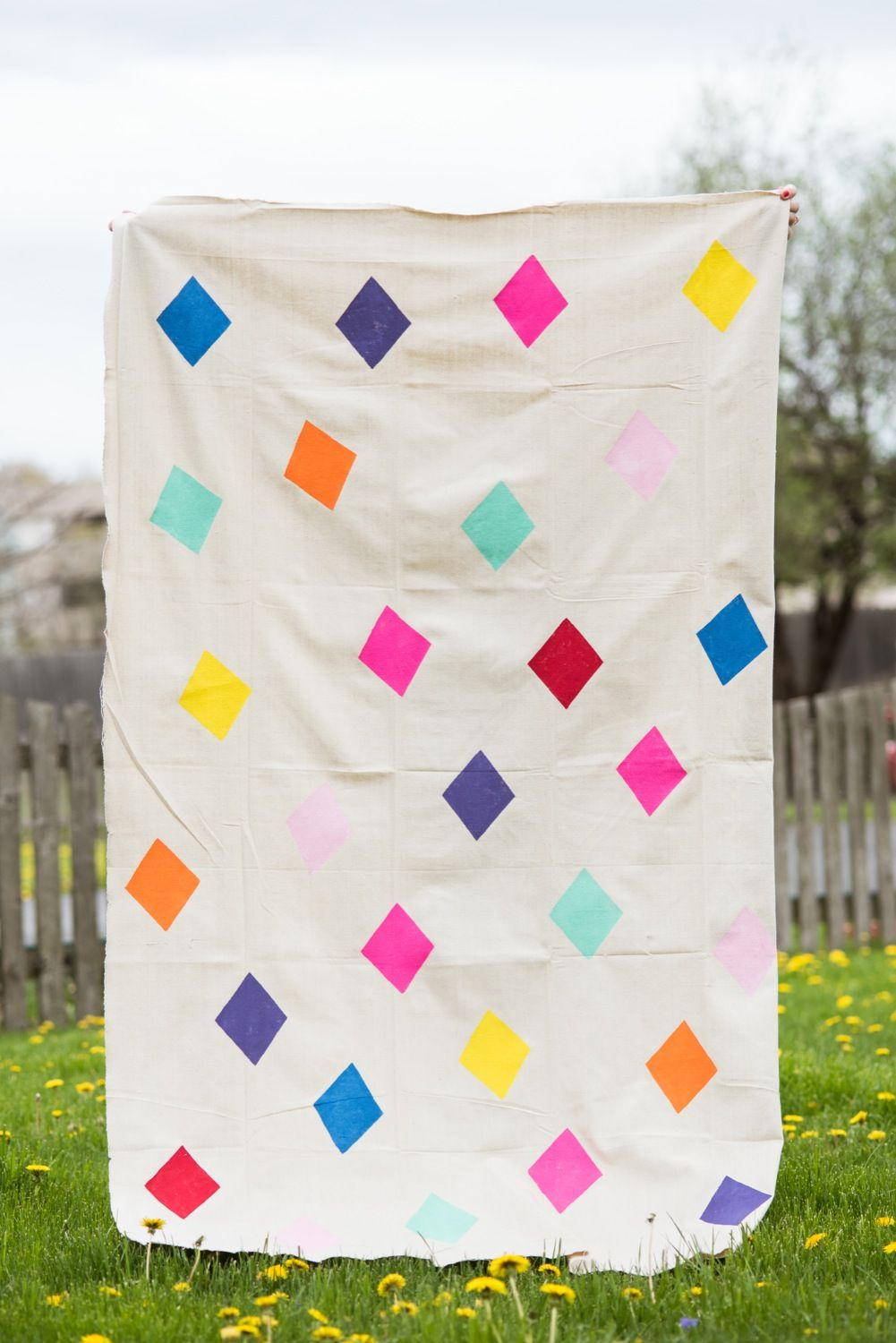DIY Geometric Picnic Blanket | Picnics, Blanket and DIY tutorial