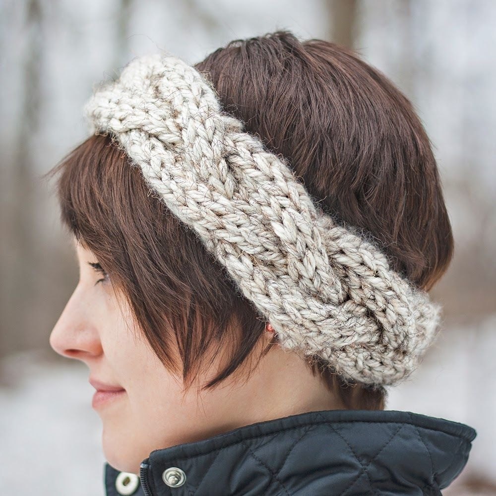 Cable Crown Super Bulky Knit Headband Knitting Patterns